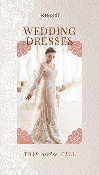 Wedding Dresses Store Ad Bride in White Dress