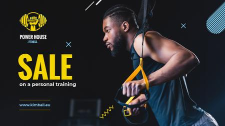 Modèle de visuel Man resistance training - Full HD video