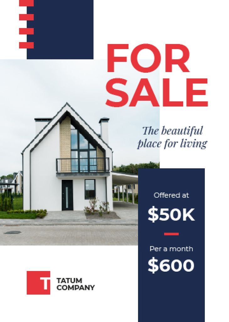 Real Estate Ad Cozy House Facade — Create a Design