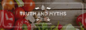 Vegetarian Food Concept with Fresh Vegetables | Tumblr Banner Template