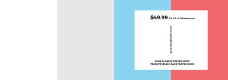 Shop Sale announcement on colorful Stripes Tumblr – шаблон для дизайну