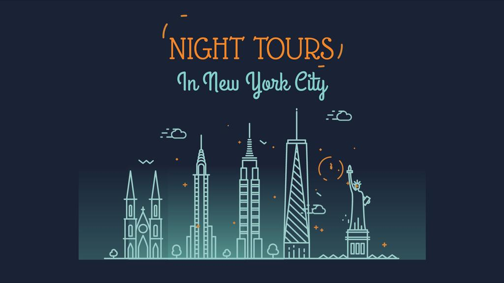 New York Night Futuristic City Lights | Full Hd Video Template — Crear un diseño