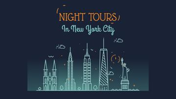 New York Night Futuristic City Lights | Full Hd Video Template