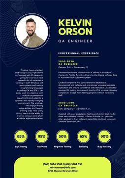 Professional QA Engineer profile