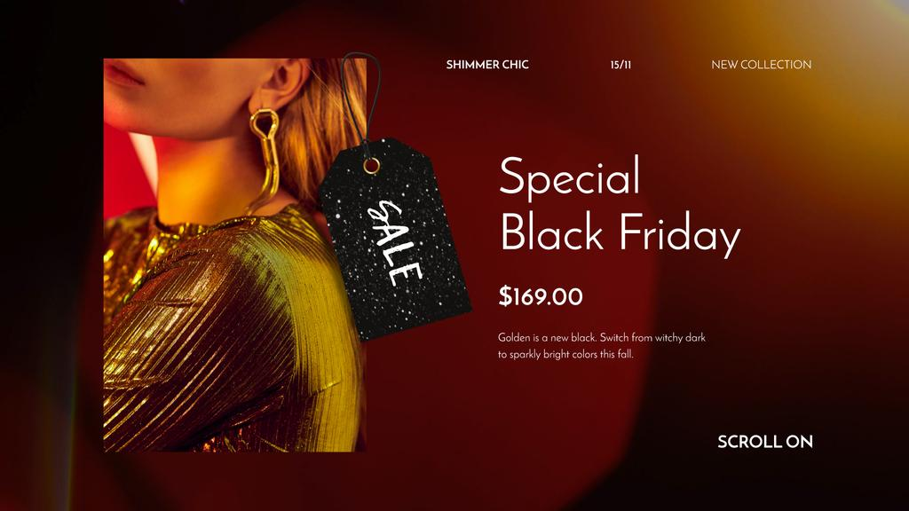 Black Friday Sale Woman in Shiny Dress — Crea un design