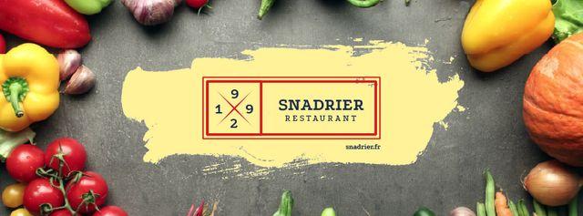 Restaurant menu with fresh Vegetables Facebook Video cover Tasarım Şablonu