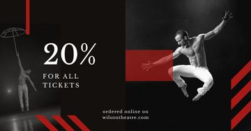 Tickets Offer Passionate Professional Dancer | Facebook Ad Template