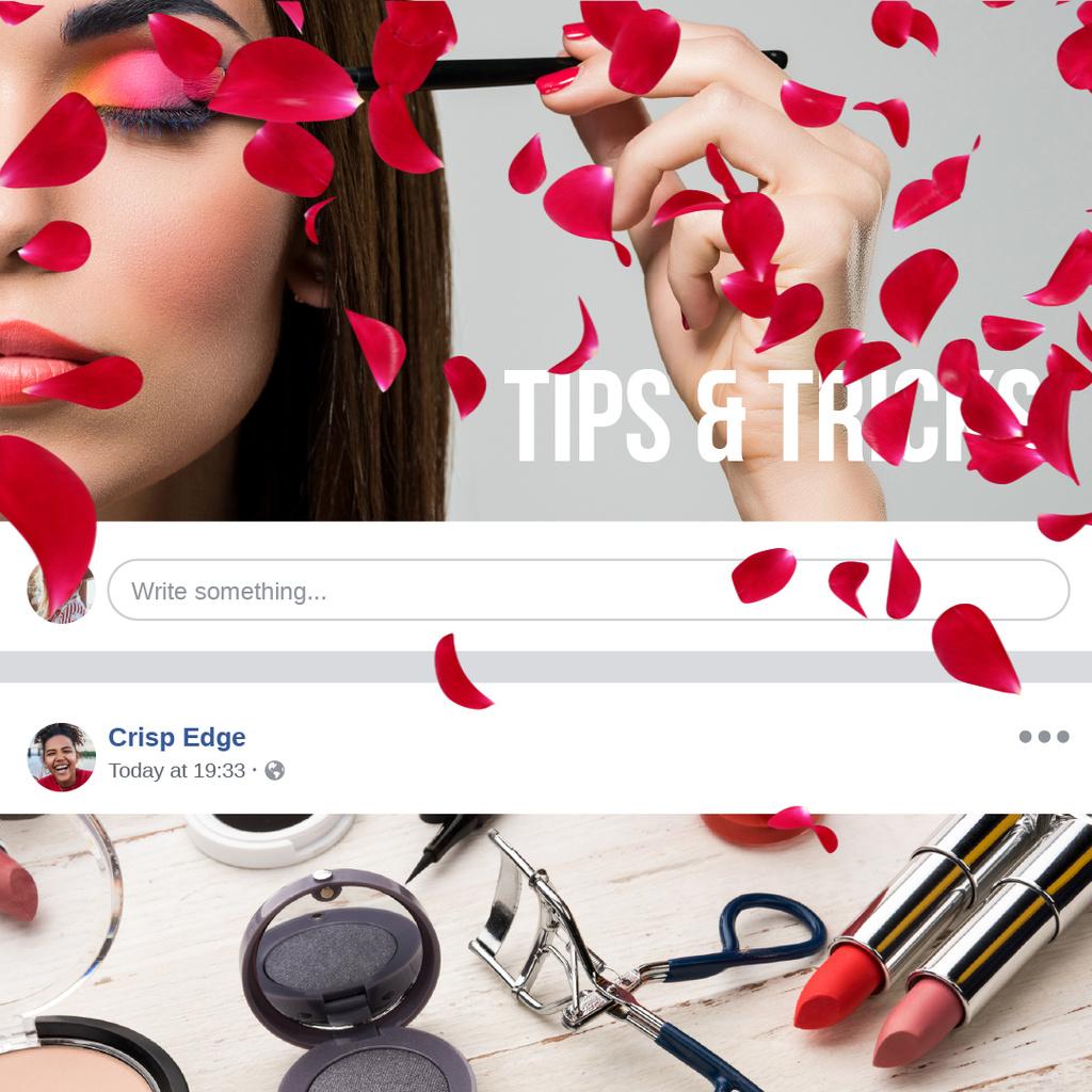 Attractive Woman applying bright makeup — Crear un diseño