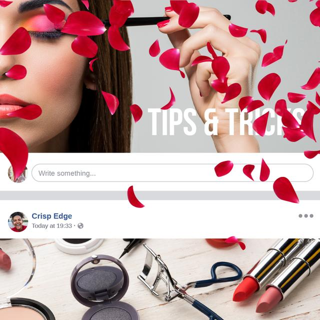 Template di design Attractive Woman applying bright makeup Animated Post