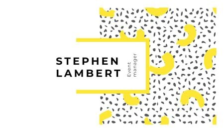 Template di design Colorful geometric pattern Business card
