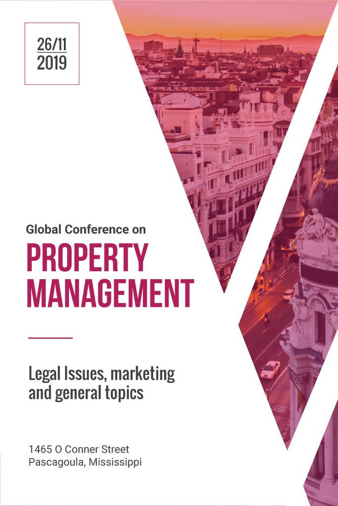 Property management global conference poster — Créer un visuel