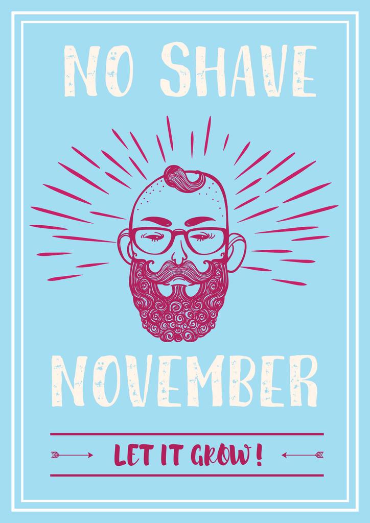 No shave November illustration — ein Design erstellen