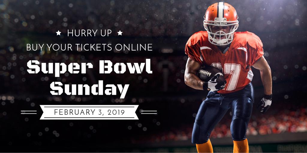Super bowl sport online banner Image Design Template
