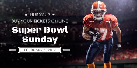 Modèle de visuel Super bowl sport online banner - Image
