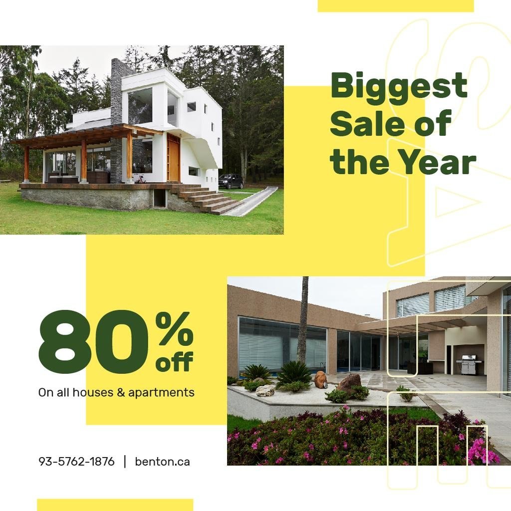 Real Estate Offer Residential Modern House | Instagram Post Template — Create a Design