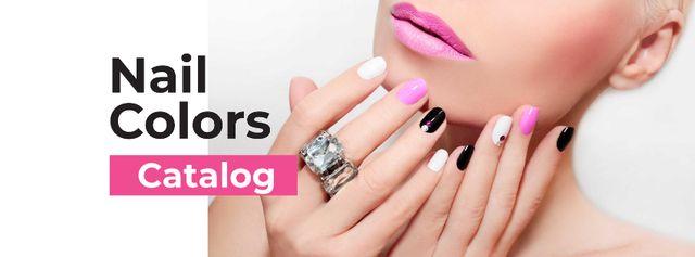 Ontwerpsjabloon van Facebook cover van Female Hands with Pastel Nails for Manicure trends