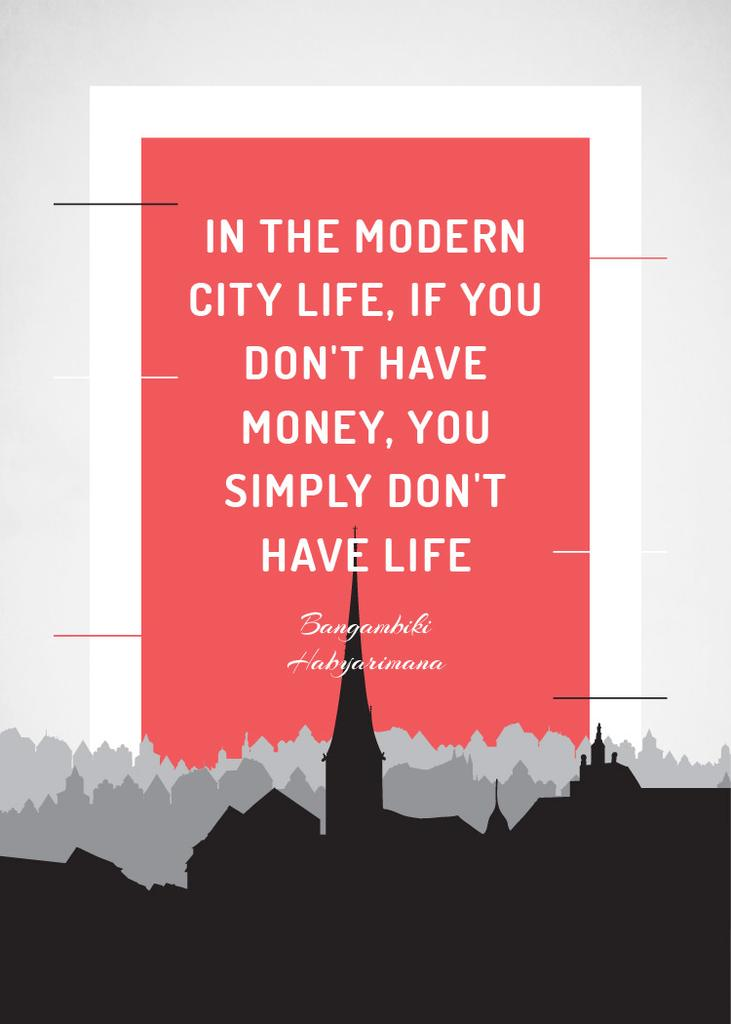 City Lifestyle quote on Buildings silhouettes — ein Design erstellen