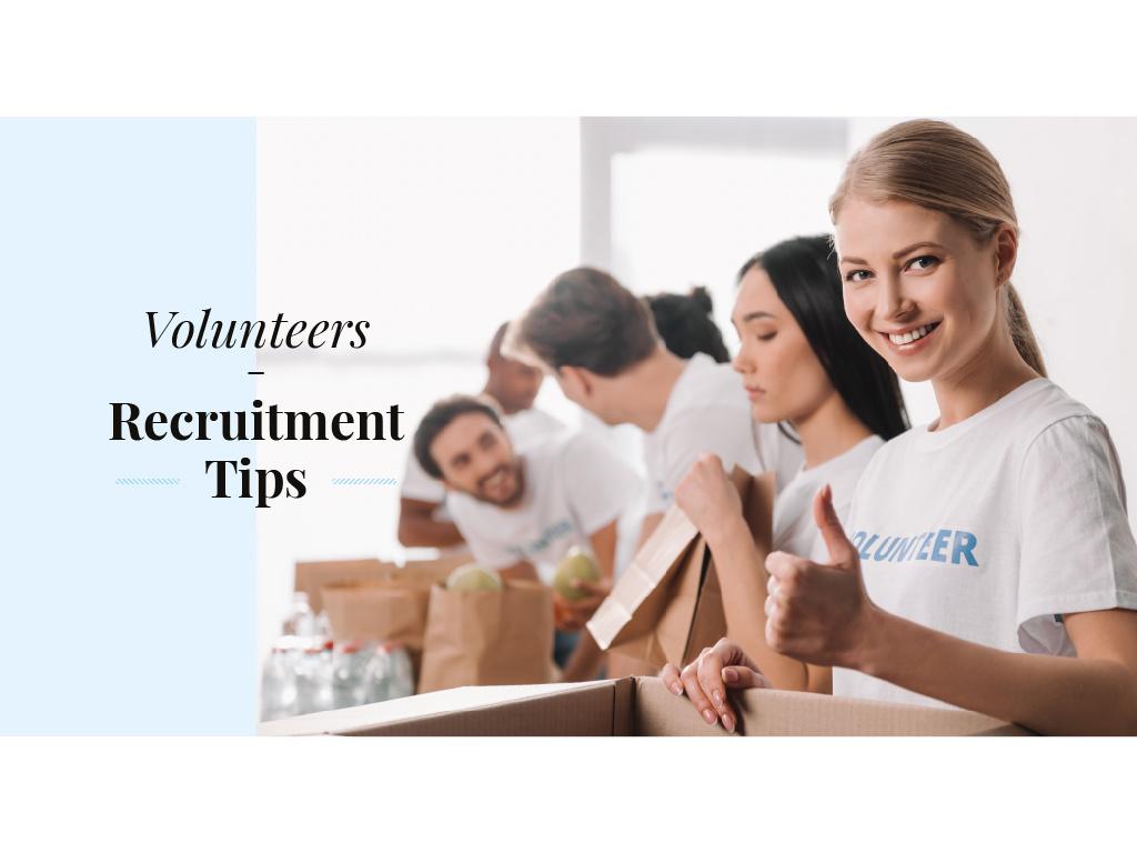 Volunteers recruitment tips — Maak een ontwerp