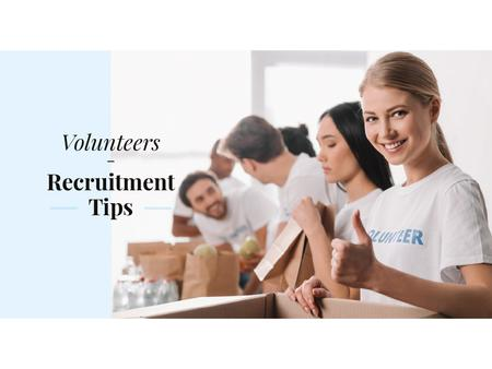 Plantilla de diseño de Volunteers recruitment tips Presentation