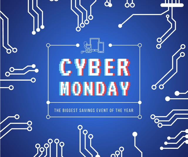 Cyber Monday sale Computer circuit board Facebook Modelo de Design