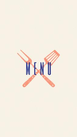 Seafood restaurant icons in red Instagram Highlight Cover Modelo de Design