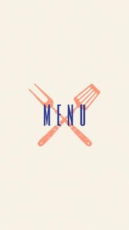 Seafood restaurant icons in red Instagram Highlight Cover Tasarım Şablonu