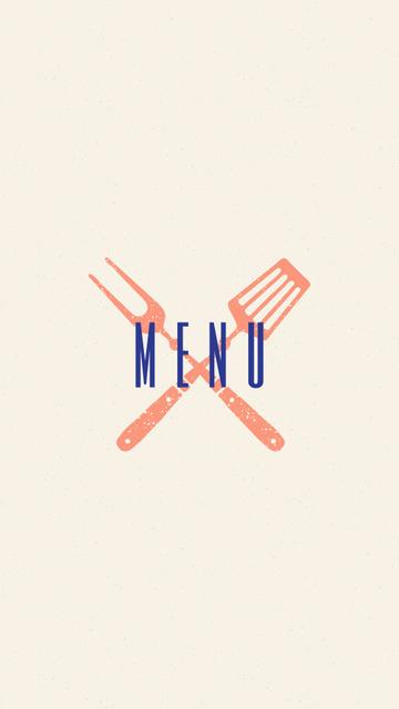 Plantilla de diseño de Seafood restaurant icons in red Instagram Highlight Cover