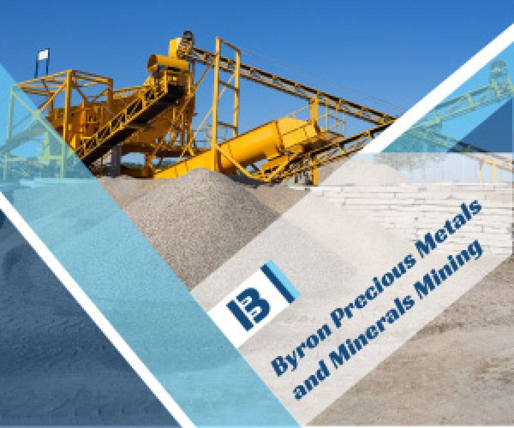 Metals and miners mining company advertisement — Crea un design