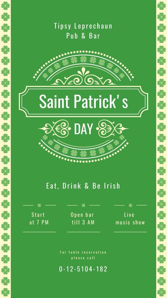 Saint Patrick's Day card — Créer un visuel