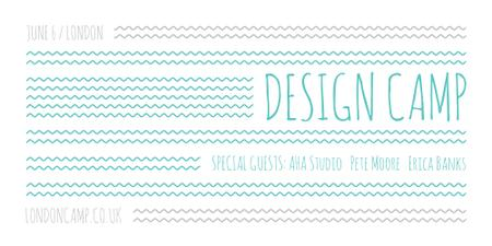 Plantilla de diseño de Design camp announcement on Blue waves Image