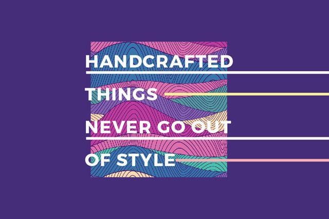 Plantilla de diseño de Citation about Handcrafted things Gift Certificate