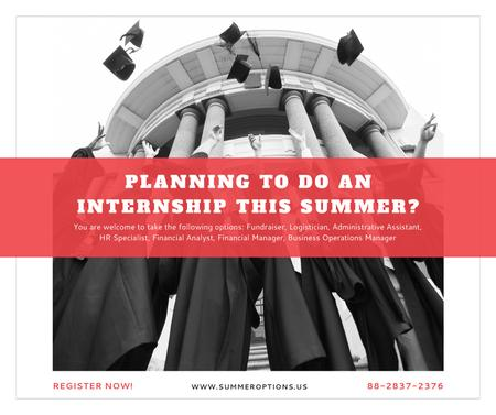 Summer internship Graduates with diplomas Facebook Modelo de Design