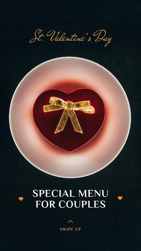 Valentine's Day Dinner with Heart Box — Crear un diseño
