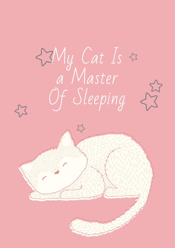 Szablon projektu Citation about sleeping cat Poster