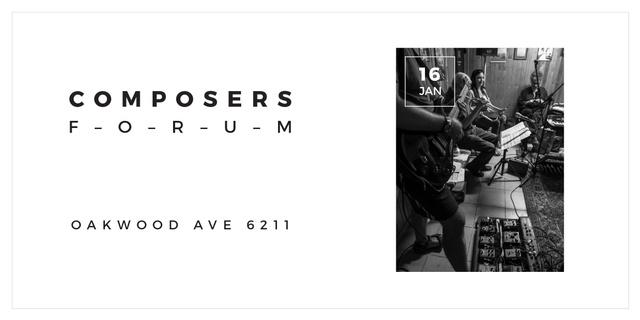 Plantilla de diseño de Composers Forum with Musicians on Stage Image