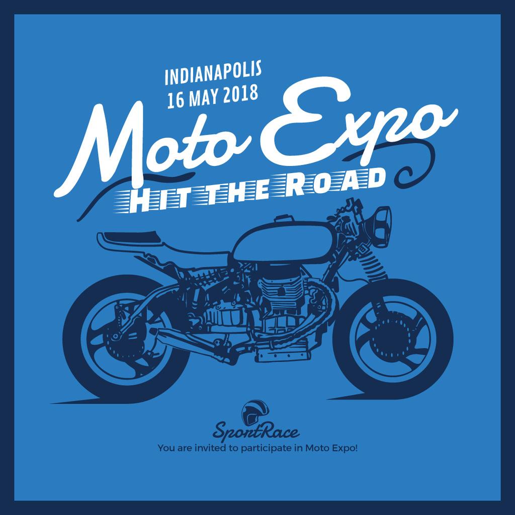 Moto expo poster - Bir Tasarım Oluşturun