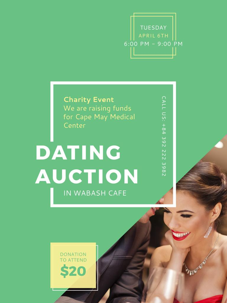 Smiling Woman at Dating Auction — Створити дизайн