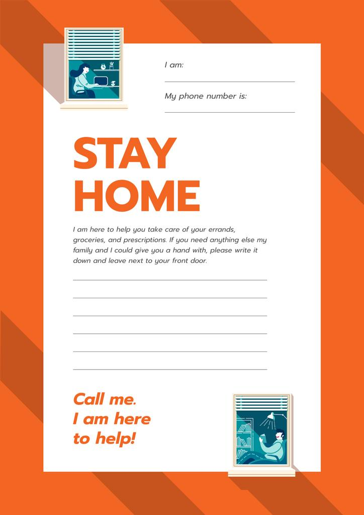 Stay Home awareness with Notice for Elder people — Modelo de projeto