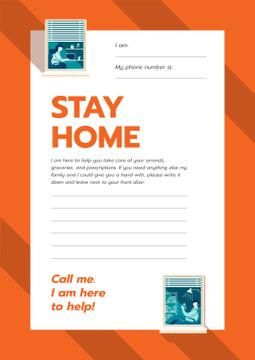 Stay Home awareness with Notice for Elder people