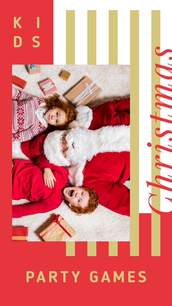 Kids and Santa Claus — Create a Design