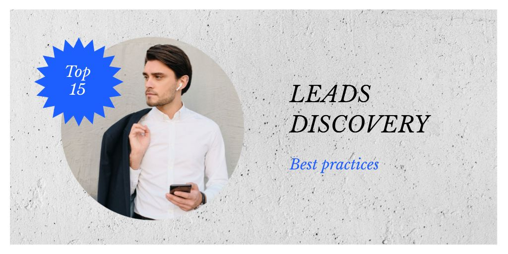 Confident Businessman with Smartphone — Создать дизайн
