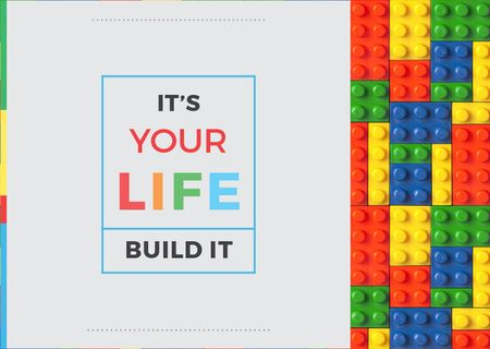 Lego Building Club Meeting Card Modelo de Design