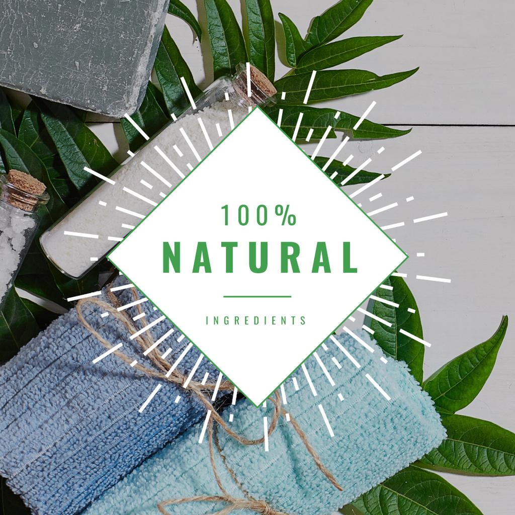 100 % natural ingredients banner — Создать дизайн
