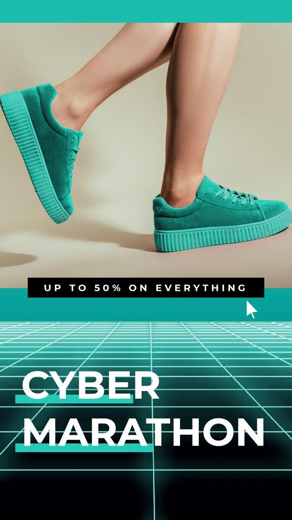 Cyber Monday Sale Sneakers in Turquoise — Crear un diseño