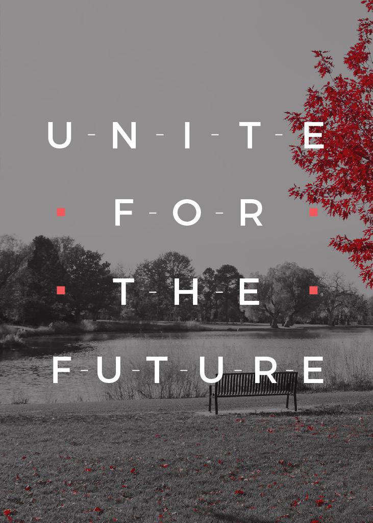 Ecology Quote with Scenic Autumn park — Crear un diseño