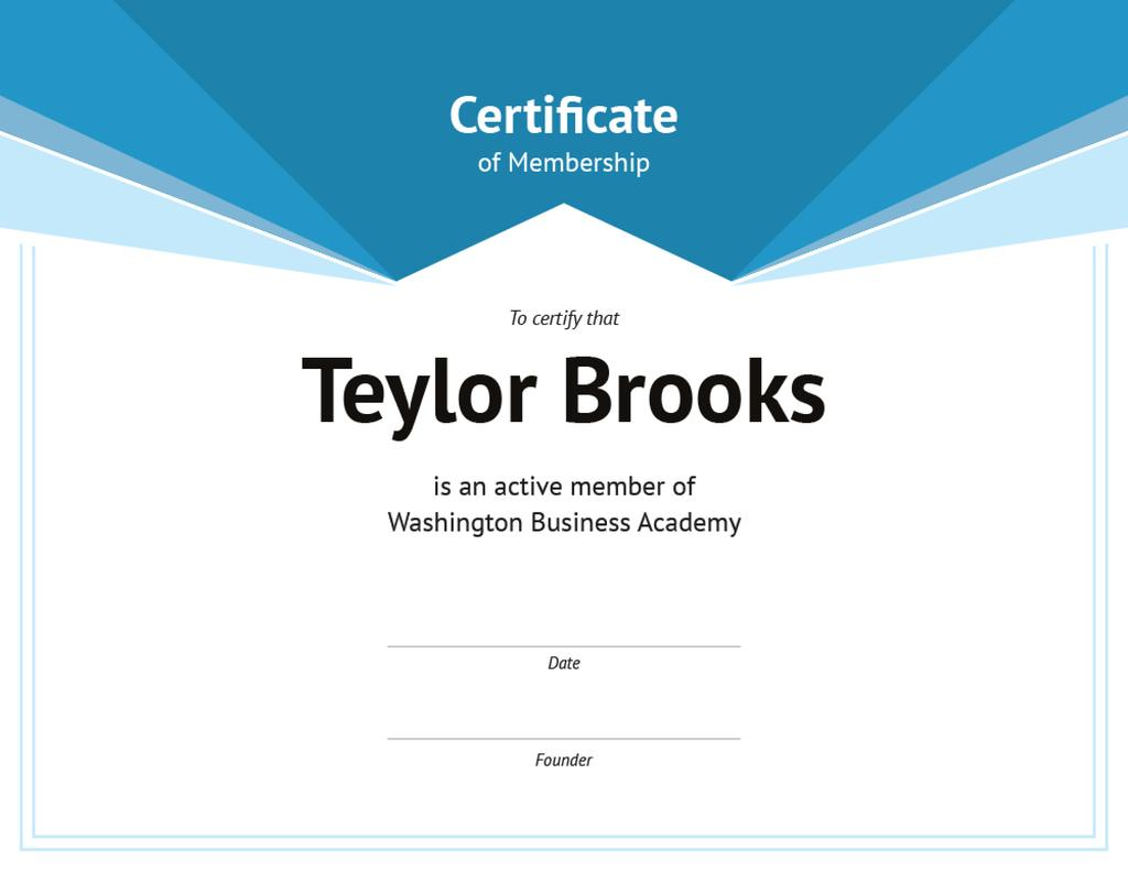 Business Academy Membership confirmation in blue — Створити дизайн