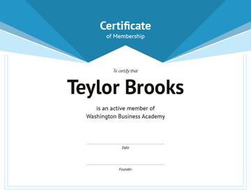 Business Academy Membership confirmation in blue