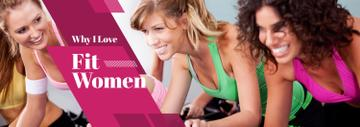 Sport Inspiration Women Training in Gym | Tumblr Banner Template