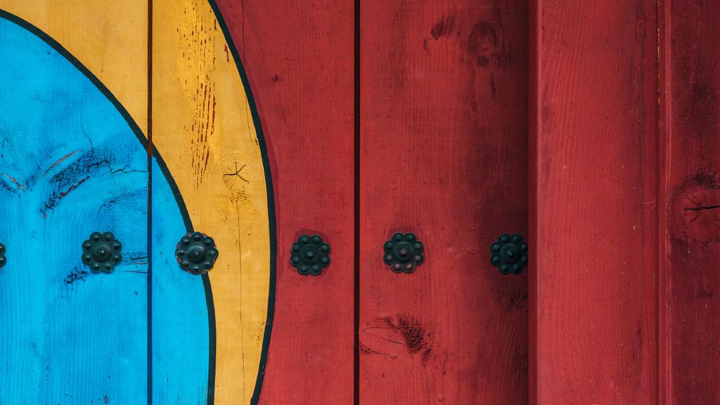 Colorful Painted fence — Crear un diseño
