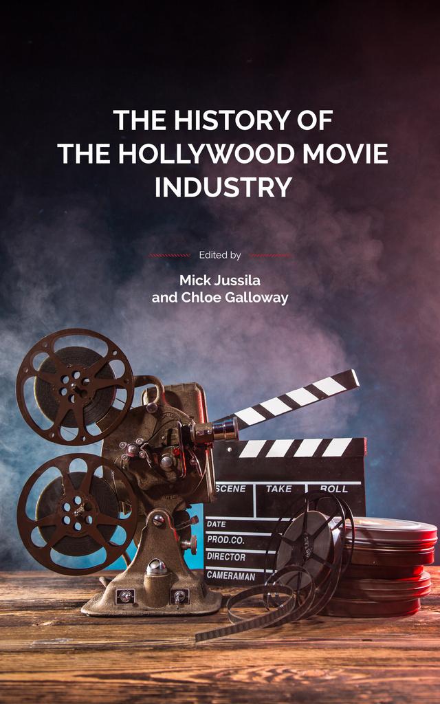 Vintage film projector Book Cover – шаблон для дизайну